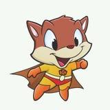 Kitten Superhero. Vector illustration of a kitten in a superhero costume Royalty Free Stock Photos