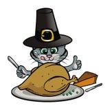 Kitten Thanksgiving Royalty Free Stock Image