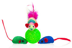 Kitten toys Royalty Free Stock Photos