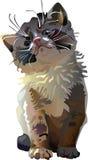Kitten. Vector.  Illustration. animal themes. Soft shadows, pastel shades, illustration for children, illustration for children's books Stock Photography
