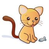 Kitten vector illustration. Cute orange kitten vector illustration Royalty Free Stock Images