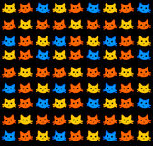 Kitten wallpaper. Background with lots of colorful little kittens Royalty Free Stock Photography
