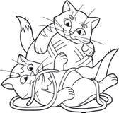 Kittens having fun playing. Funny kittens having fun playing royalty free illustration
