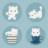 Kittens icons stock illustration