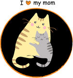 Kittens with mom Stock Photos