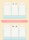 Kittens pocket greeting birthday or shower card poster concept. Cat set. Royalty Free Stock Images
