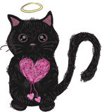 Kittens with red heart Stock Images