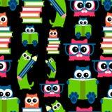 Kittens school theme seamless pattern Stock Image
