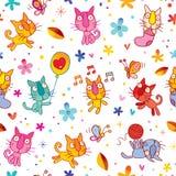 Kittens seamless pattern Stock Photo