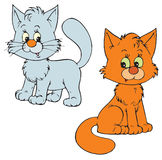 Kittens (vector clip-art) Royalty Free Stock Photography