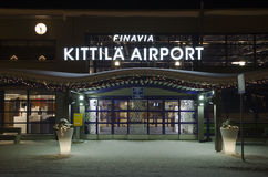 Kittila airport, Lapland, Finland Royalty Free Stock Photo