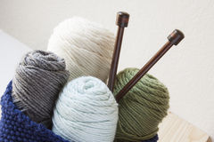 Kitting Yarn stock image