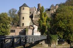 Kittsteintor and castle in Wertheim stock image