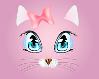 Kitty. Vector illustration with funny kitty Royalty Free Stock Photo