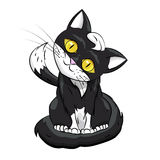 Kitty Black on a white background. Vector Illustration Royalty Free Stock Photo