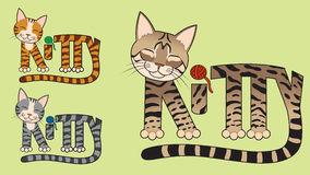 Kitty Cat. The word kitty spelled out in the shape of a cat Stock Photography