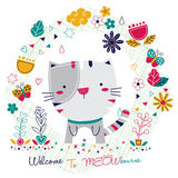 Kitty cat illustration Stock Photos