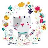 Kitty cat illustration Stock Photos