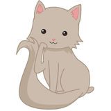 Kitty cat. Image of a cute simple cartoon cat Royalty Free Stock Photo