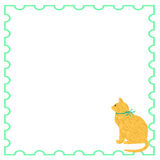 Kitty cat note paper Stock Photography