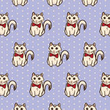 Kitty Cat Surface Pattern única Fondo aislado del vector del ejemplo Imagenes de archivo