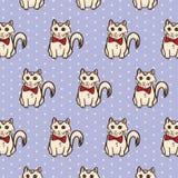 Kitty Cat Surface Pattern original Fundo isolado do vetor da ilustração Imagens de Stock