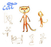 Kitty. , children, character, picture cat Stock Image