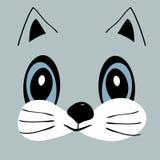 Kitty cute funny cartoon cat head Stock Photo