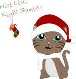 Kitty de Papá Noel Imagen de archivo