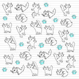 Kitty doodles Stock Photos
