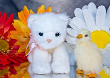 Kitty and Ducky Royalty Free Stock Images