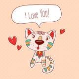 Kitty en amor Foto de archivo