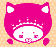 Kitty face. Kitty art illustration for children Stock Photography
