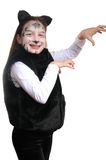 Kitty. Girl in a cat costume Royalty Free Stock Photo