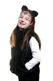 Kitty. Girl in a cat costume Stock Photography