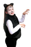 Kitty. Girl In A Cat Costume Royalty Free Stock Photography