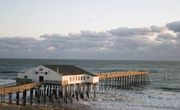 Kitty Hawk Pier at Sunrise royalty free stock photos