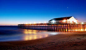 Kitty Hawk Pier Sunrise in the Outer Banks Stock Images