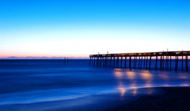 Kitty Hawk Pier Sunrise in the Outer Banks Royalty Free Stock Photo