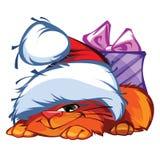 Kitty. I present to you a Christmas icon - Kitty Royalty Free Stock Photo