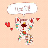 Kitty in love Stock Photo