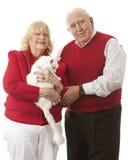 Kitty Loving Seniors Royalty Free Stock Photos