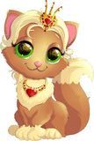 Kitty princess with decorations Stock Images