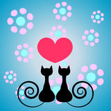 Kitty romance Royalty Free Stock Photo