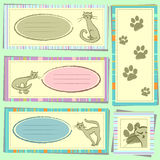 Kitty scrapbook elements Stock Photo