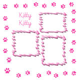 Kitty scrapbook page Royalty Free Stock Photo