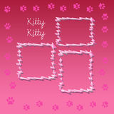 Kitty scrapbook page Stock Photos