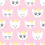 Kitty seamless pattern. Royalty Free Stock Photo