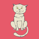 Kitty. Simple cat artwork from Royalty Free Stock Images