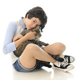 Kitty Snuggler Royalty Free Stock Image